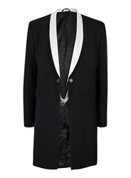 Topman Design Black And White Tailored Coat