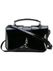 Saint Laurent Top Handle Cross Body Bag Women Patent Leather One Size Black