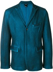 Avant Toi Fitted Jacket Blue