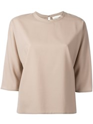 Stephan Schneider Keyhole Detail Knitted Top Women Wool M Nude Neutrals