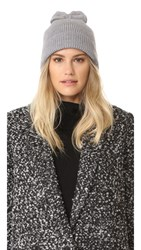 Kate Spade Solid Bow Knit Hat Grey Melange