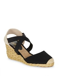 Lauren Ralph Lauren Casandra Espadrille Wedge Sandals Black