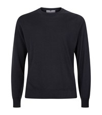 Canali Cashmere Silk Jumper Male Charcoal