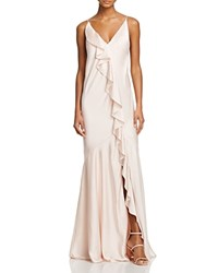Aidan Mattox Ruffle Slip Gown 100 Bloomingdale's Exclusive Ice Pink