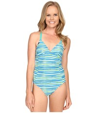Lole Saranda One Piece Aruba Blue Stripe Women's Swimsuits One Piece