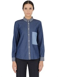 Golden Goose Patchwork Denim Shirt