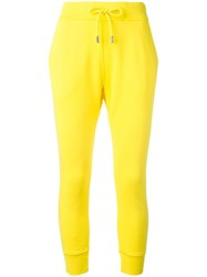 Dsquared2 Drinking Decal Track Pants Yellow Orange