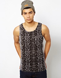Another Influence Vest In Snake Print Grey