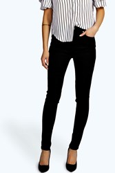 Boohoo Super High Waisted Skinny Tube Jeans Black