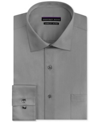 Geoffrey Beene Non Iron Sateen Solid Dress Shirt Gunmetal