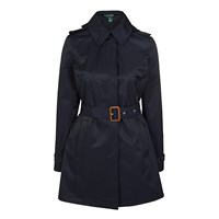 Lauren Ralph Lauren Hooded Raincoat Capri Navy