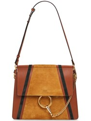 Chloe Medium Faye Suede Patches Leather Bag