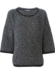 Dolce And Gabbana Heavy Knit Sweater Black
