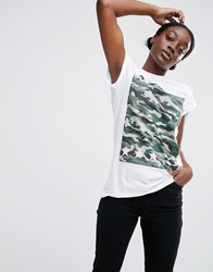 Asos T Shirt With Camo Star Print Multi