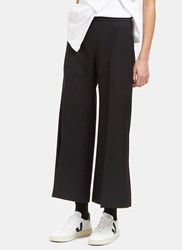 Acne Studios Isa Wide Cropped Culottes Black