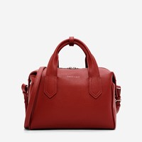 Charles And Keith Soft Bowling Bag Red
