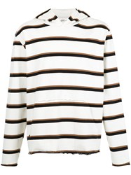 Osklen Riva Striped Hoodie Nude And Neutrals