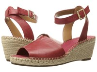 Clarks Petrina Selma Red Leather Women's Wedge Shoes