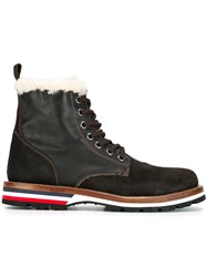 Moncler 'New Vancouver' Ankle Boots Brown