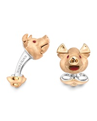 Deakin And Francis Pig Head Cuff Links