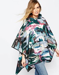 Asos Shower Proof Camo Print Pac Away Trench Multi