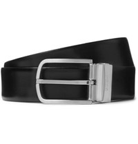 Hugo Boss 4Cm Black And Brown Owen B Reversible Leather Belt Black