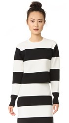 Tibi Apres Ski Sweater Black Ivory Multi