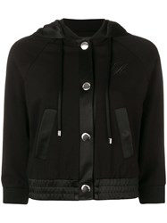 Emporio Armani Cropped Hooded Jacket Black
