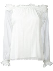 P.A.R.O.S.H. Off The Shoulder Blouse White