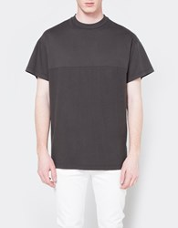 John Elliott Mock Panel Tee Charcoal