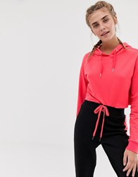 South Beach Cropped Hoodie In Pink