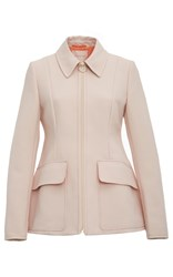 Roksanda Ilincic Cato Flap Patch Pocket Jacket Pink