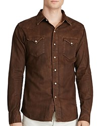 Polo Ralph Lauren Distressed Denim Western Regular Fit Shirt Stillwell