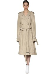 J.W.Anderson Cotton Blend Twill Trench Coat Beige