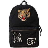 Polo Ralph Lauren Tiger Embroidered Backpack Black
