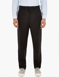 Ami Alexandre Mattiussi Black Oversized Wool Blend Trousers