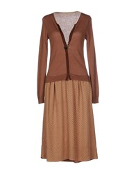 Soho De Luxe Dresses Knee Length Dresses Women Brown