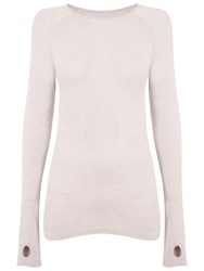 Manuka Life Seamless Long Sleeve Yoga T Shirt Peach