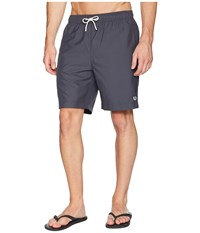 Fred Perry Textured Swimshorts Charcoal Swimwear Gray