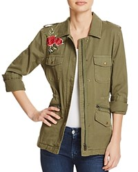 Velvet By Graham And Spencer Rhoda Embroidered Army Jacket 100 Bloomingdale's Exclusive Forest Green