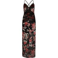 River Island Womens Black Rose Lace Panel Maxi Dress
