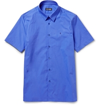 Raf Simons Slim Fit Cotton Blend Poplin Shirt Blue
