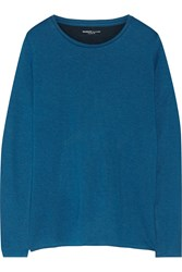 Majestic Cotton And Cashmere Blend Jersey Top Blue