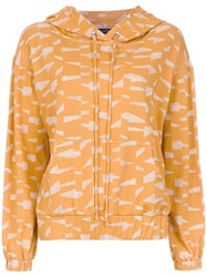 Andrea Marques Printed Hoodie Orange