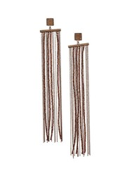 Brunello Cucinelli Monili Beaded Drop Earrings Rose Gold