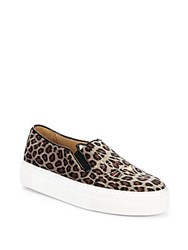 Charlotte Olympia Leopard Print Platform Sneakers Houndstooth