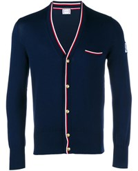 Moncler Gamme Bleu Knit Cardigan Navy Red White Navy Blue