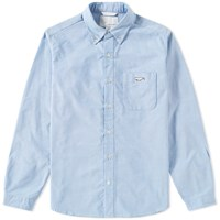 Nanamica Button Down Wind Shirt Blue