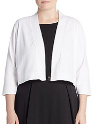 Calvin Klein Plus Size Cotton Jersey Knit Cardigan White