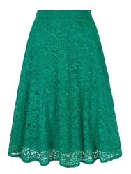 Yumi Lace Midi Skirt Green